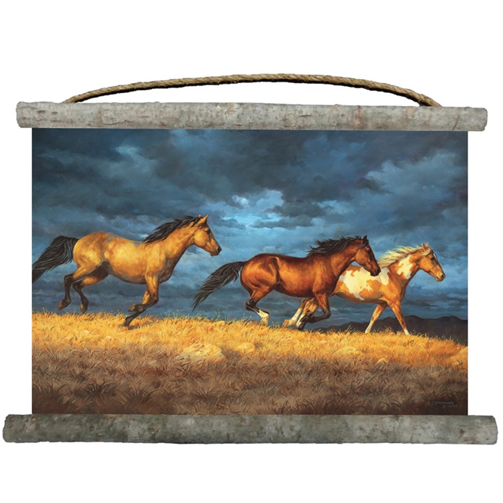 "Horse Canvas Wall Hanging ""Thunder Ridge"""