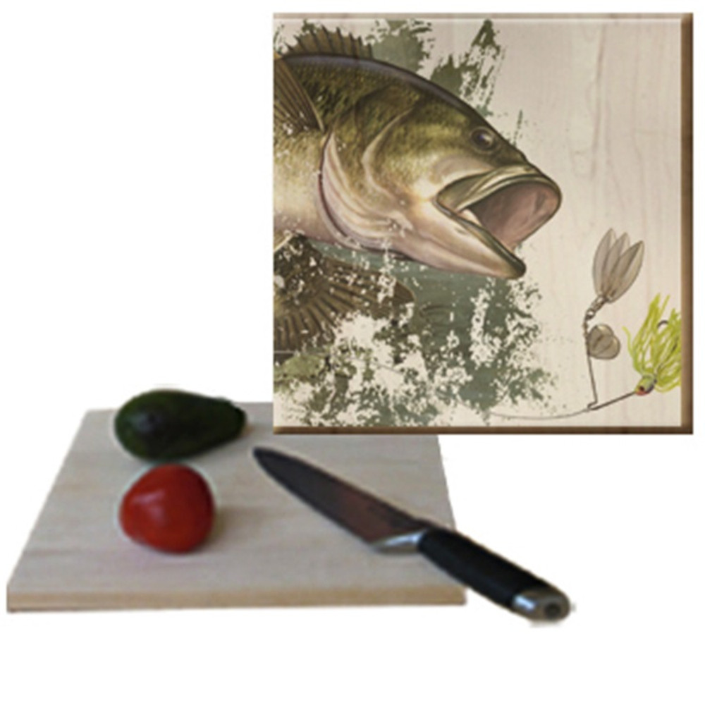 Bass Cutting Board   Wood Graphixs  CBBASS1212
