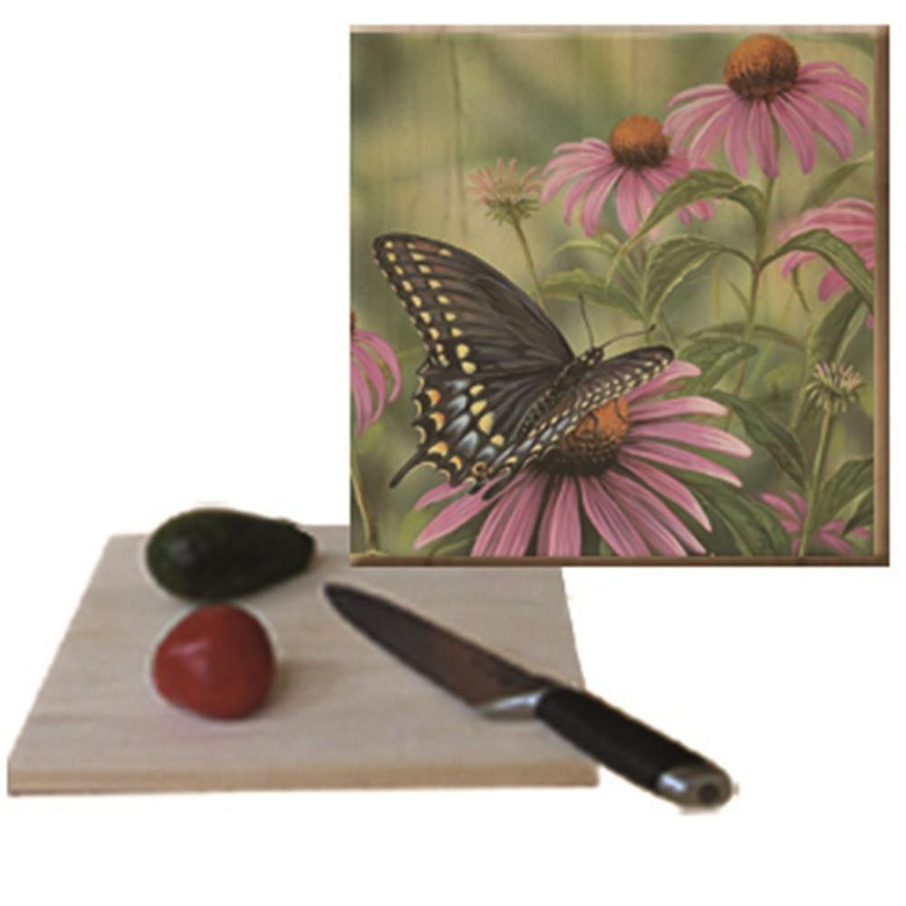 "Butterfly Cutting Board ""Black Swallowtail""   Wood Graphixs   CBBSB1212"