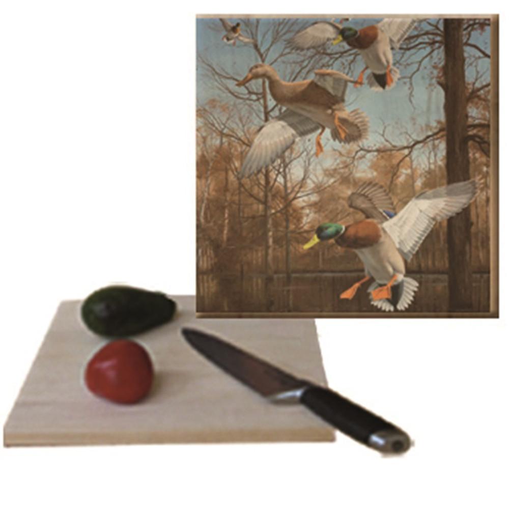 "Mallard Cutting Board ""Greenhead Haven"" | Wood Graphixs | CBGHH1212"