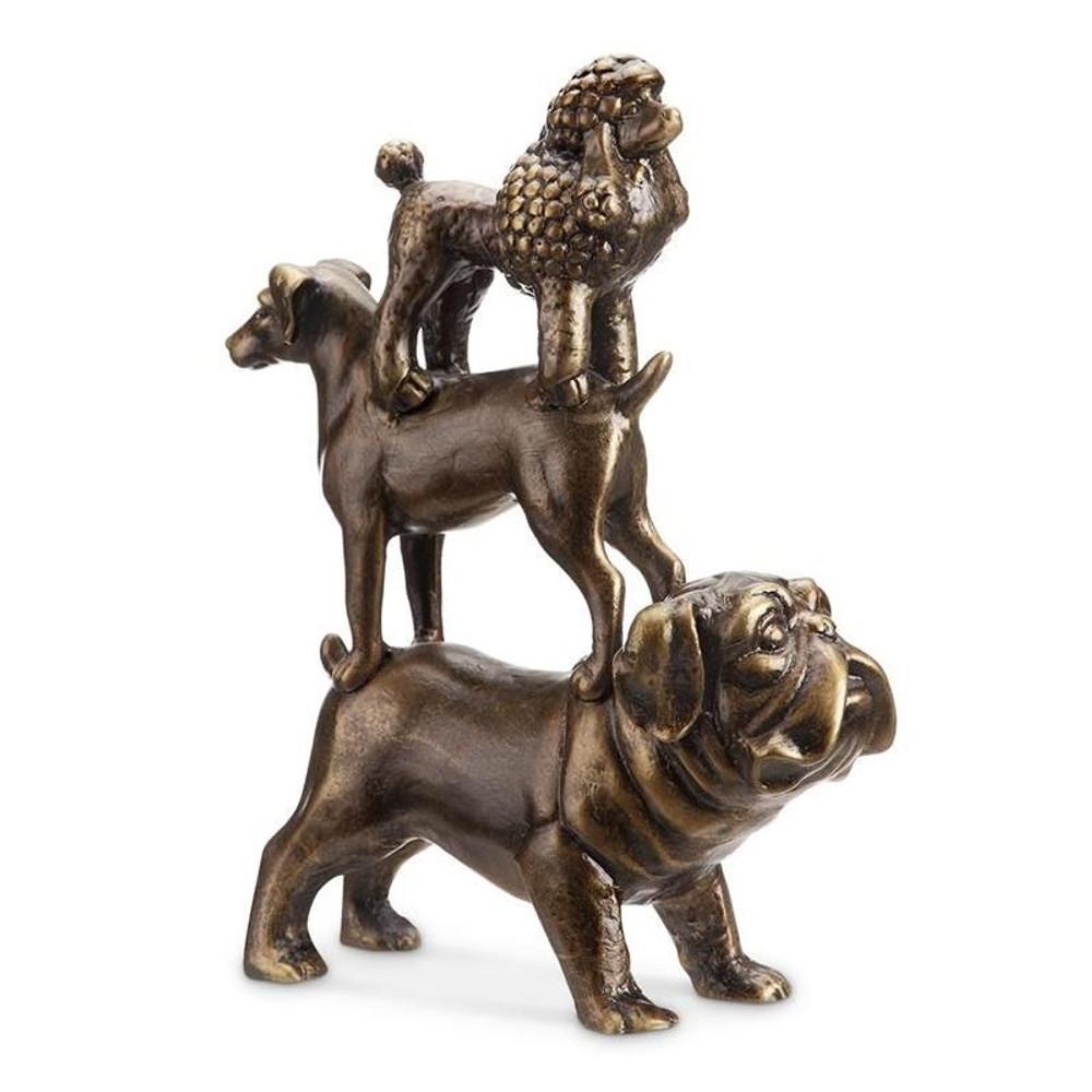 Dog Trio Sculpture   34051   SPI Home