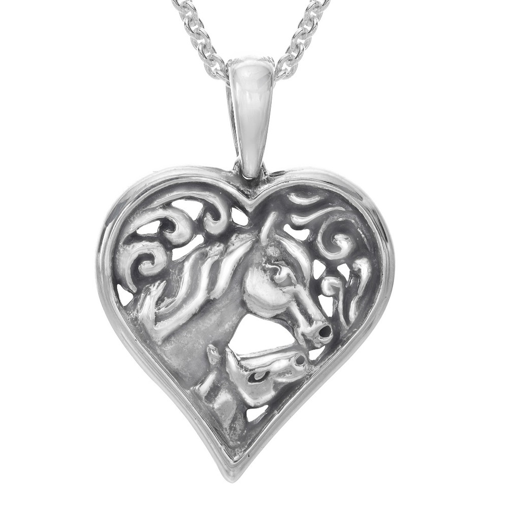 Horse Heart Pendant Necklace | SP510 | Kabana