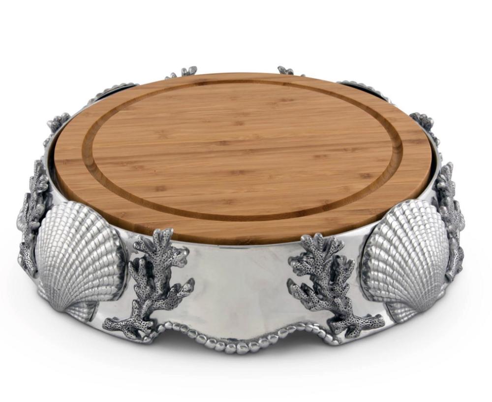 Shells Cheese Board | Arthur Court Designs | 202C31