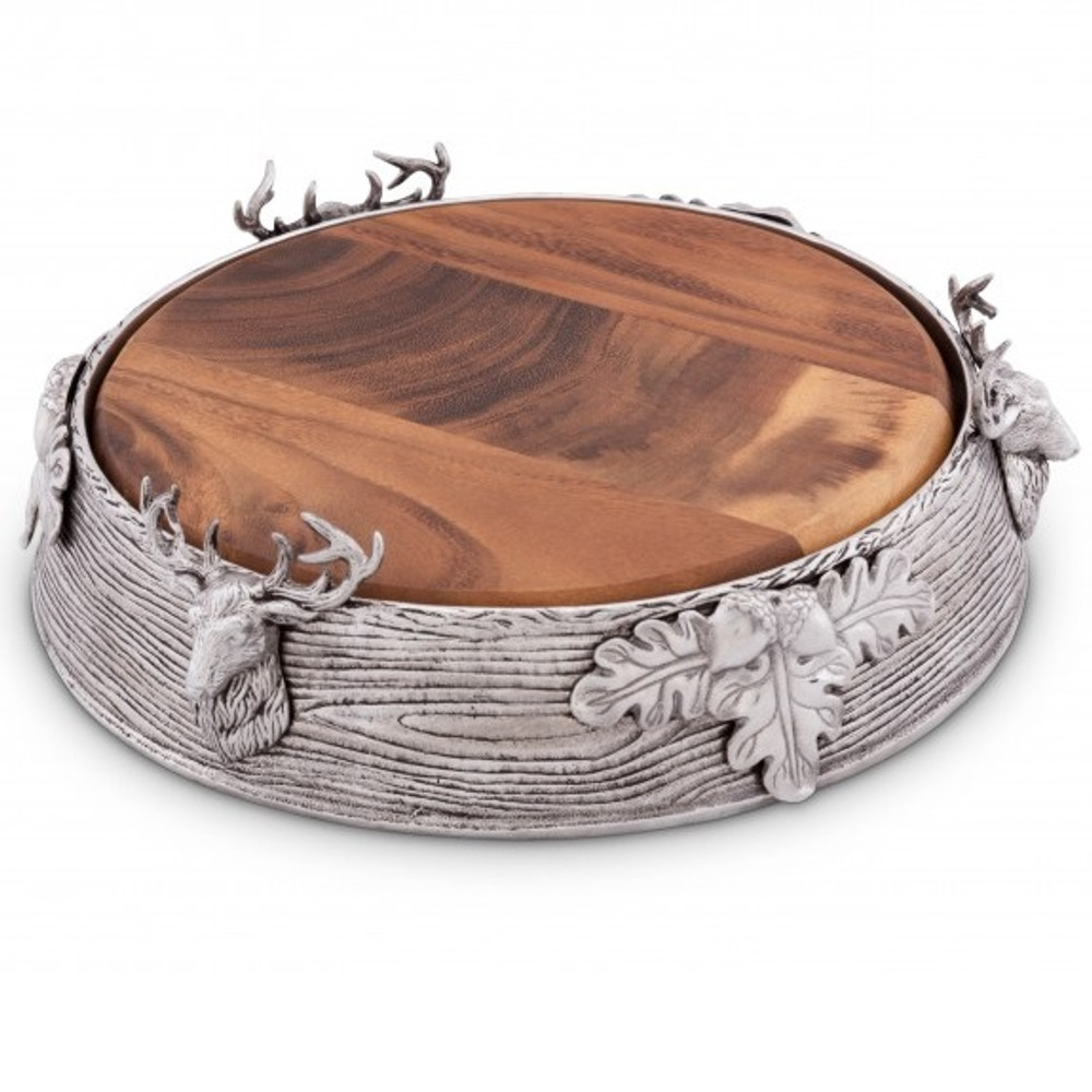 Elk Cheese Board   Arthur Court Designs   201L31