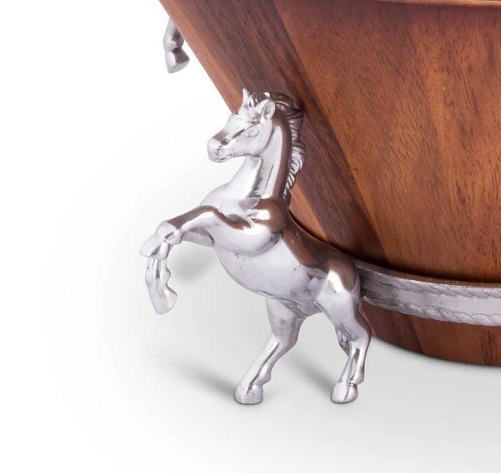 Horse Wood Salad Bowl | Arthur Court Designs | 218E11