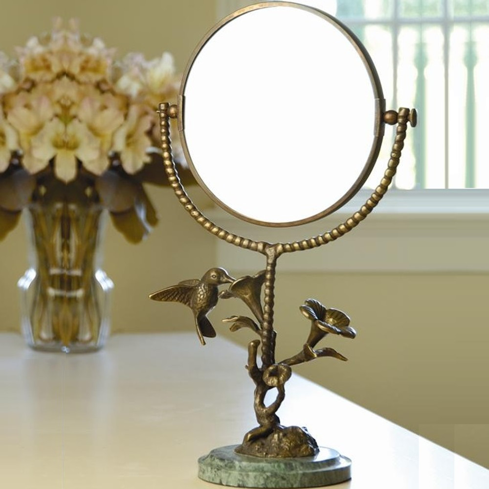 Hummingbird & Flower Vanity Mirror | BZ25407 | SPI Home
