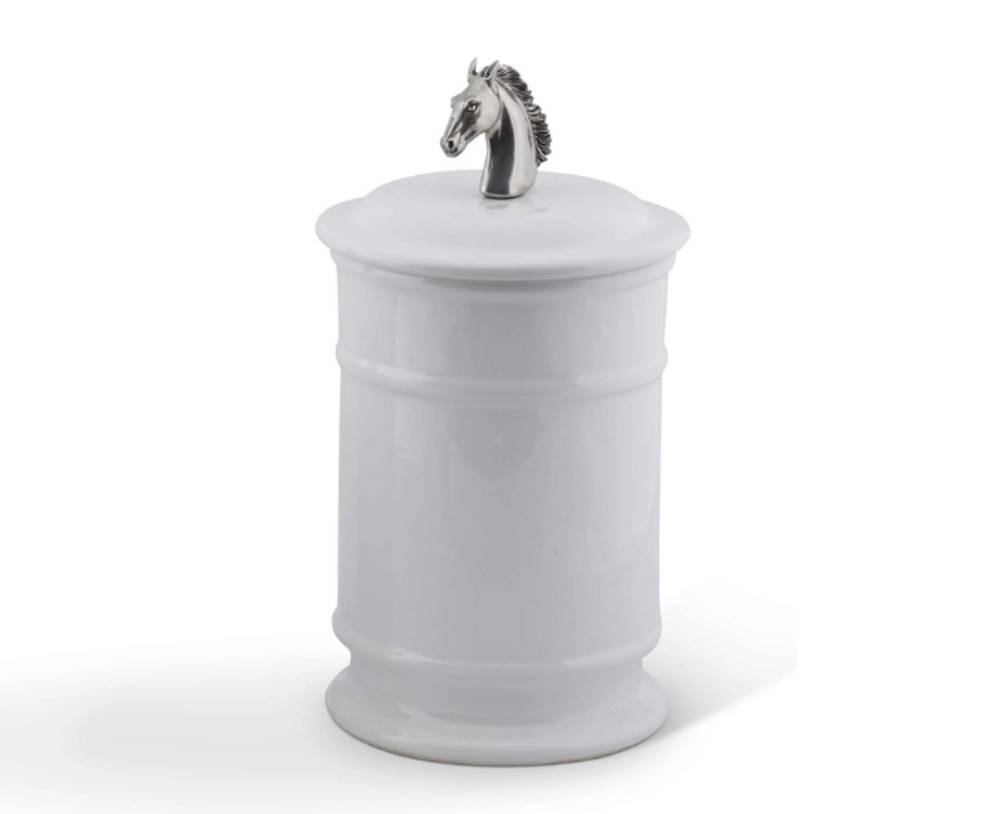 Horse Head Canister Set of 2 | Vagabond House | H273H-H263H-1