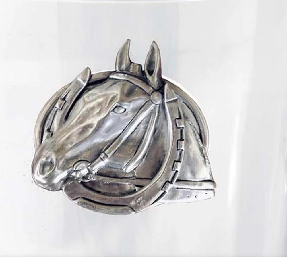 Horse Glass Pitcher   Vagabond House   H457-EH