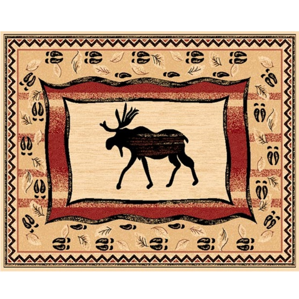 Moose Lodge Area Rug | Persian Weavers | L-369