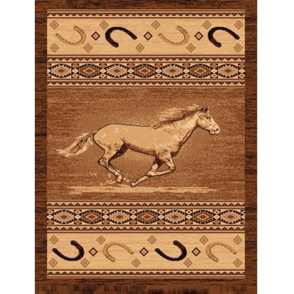 Running Horse Lodge Area Rug | Persian Weavers | L-372