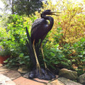 Heron Bronze Fountain Statue | Metropolitan Galleries | SRB022005-1