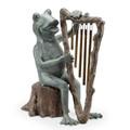Frog and Harp Windchime Garden Sculpture | 34538 | SPI Home -2