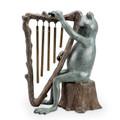 Frog and Harp Windchime Garden Sculpture | 34538 | SPI Home -4