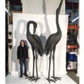Crane Pair Bronze Statue | Metropolitan Galleries SRB15075-2