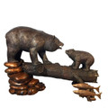 Bear and Cub Bronze Statue | Metropolitan Galleries | SRB49562-2