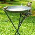 Cat & Bird Birdbath | 33562 | SPI Home -2