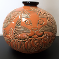 Cat Limited Edition Ceramic Vase | De Rosa Collections | H03