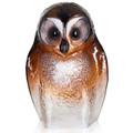 Owl Brown Crystal Sculpture   34245   Mats Jonasson Maleras -2