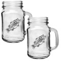 Bass Fish Mason Jar Mug Set of 2 | Heritage Pewter | HPIMJM4033