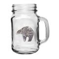 Bear Tribal Mason Jar Set of 2 | Heritage Pewter | HPIMJM3999