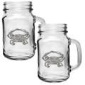 Blue Crab Mason Jar Mug Set of 2 | Heritage Pewter | HPIMJM4266