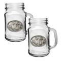 Cape Buffalo Mason Jar Mug Set of 2 | Heritage Pewter | HPIMJM121