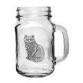 Cat Mason Jar Set of 2 | Heritage Pewter | HPIMJM3830