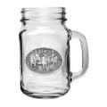 Moose Mason Jar Set of 2   Heritage Pewter   HPIMJM103