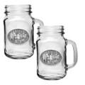 Moose Mason Jar Mug Set of 2   Heritage Pewter   HPIMJM103