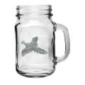 Pheasant Mason Jar Mug Set of 2 | Heritage Pewter | HPIMJM4036