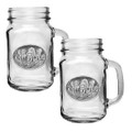 Wolf Pack Mason Jar Mug Set of 2   Heritage Pewter   HPIMJM102