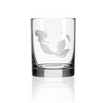 Mermaid Double Old Fashion Drink Glass Set of 4 | Rolf Glass | 268002