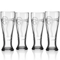 Palm Tree Pilsner Glass Set of 4  | Rolf Glass | 203461