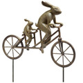 Tandem Bicycle Bunnies Garden Statue | 33862 | SPI Home -2