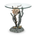 Shell and Seagrass End Table | 34655 | SPI Home
