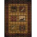 Fish Duck Area Rug Lodge Stamp | United Weavers | UW750-04143