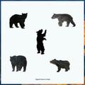 Black Bear Artisanal Wooden Jigsaw Puzzle | Zen Art & Design | ZADBLACKBEAR