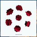 Red Rose Artisanal Wooden Jigsaw Puzzle | Zen Art & Design | ZADREDROSE