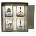 Lighthouse Double Old Fashioned Glass Set | Richard Bishop | 2026LIG