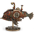 Steampunk Submarine Fish Sculpture | Unicorn Studios | WU76795A4