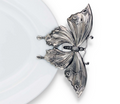Butterfly Stoneware Pewter Tray   Vagabond House   G307BF