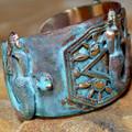 Mermaid Patina Brass Cuff Bracelet | Elaine Coyne Jewelry | MEP686bcCR -2