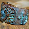 Mermaid Patina and Brass Cuff Bracelet | Elaine Coyne Jewelry | MEP686bcCR -3