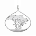 Cypress Tree Small Pewter Pendant-2