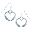 "Fish Pewter Earrings ""Merrymeeting Bay""-2"