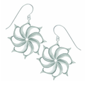 "Fish Pewter Drop Wire Earrings ""North Star""-2"