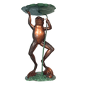 Frog and Lily Pad Bronze Fountain Statue | Metropolitan Galleries | SRB41006