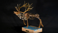Elk Metal and Wood Sculpture | I'm Your Huckleberry | Frank Cole | FCSIYH