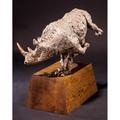 African White Rhino Bronze Sculpture   Defiance   Frank Cole Art   FCSDef