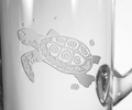 Sea Turtle Engraved Glass Pitcher | Rolf Glass | 234717